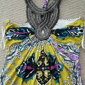 Nwot rhinestone Sky dress